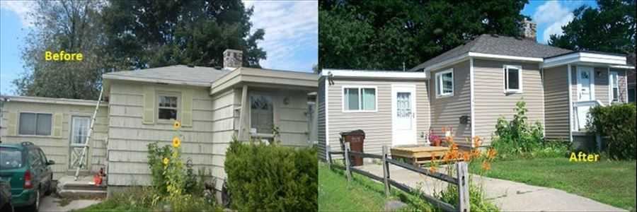 A Home Repair project before and after