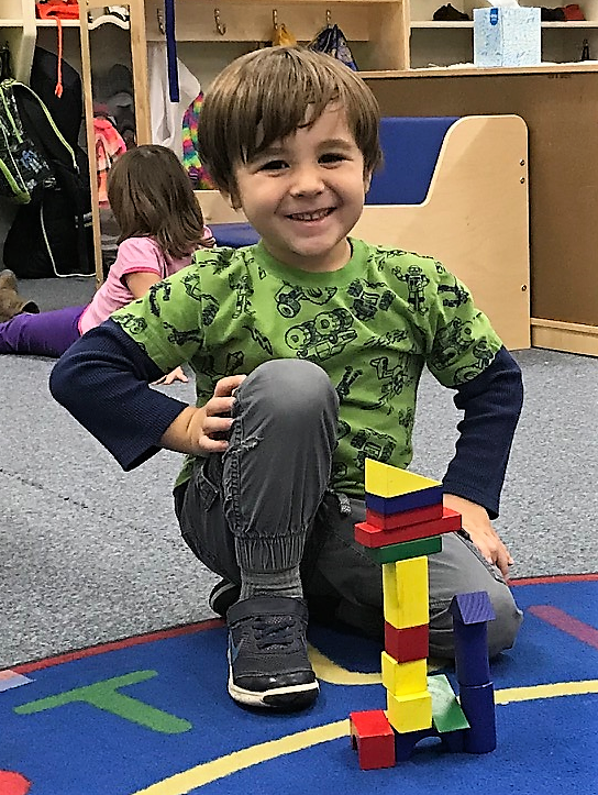 Preschool Classmate Enjoying His Day